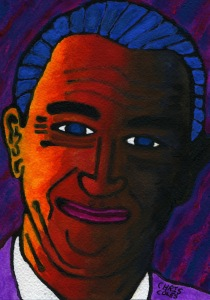 Portrait of poet, John Gartland by Bangkok Noir artist, ChrisColes