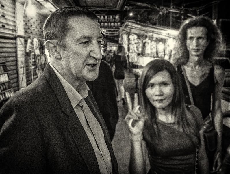 John Gartland on Sukhumvit Road, Bangkok (Photo by Eric Nelson)