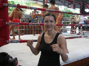 Melissa Ray at her home away from home, Eminent AIr Boxing Gym