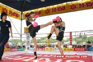 Professional Muay Ying, Melissa Ray in a 5 Round Match
