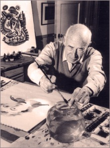 Henry Miller while paiting