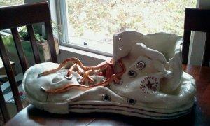 Check Taylor Converse ceramic shoe