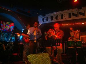 Steve Cannon and a talented group of jazz musicians at CheckInn99