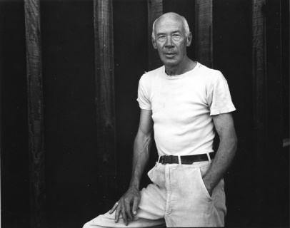 Portrait of the author Henry Miller (1891 - 1980), wearing a white shirt, California, mid twentieth century. (Photo by Larry Colwell/Anthony Barboza/Getty Images)
