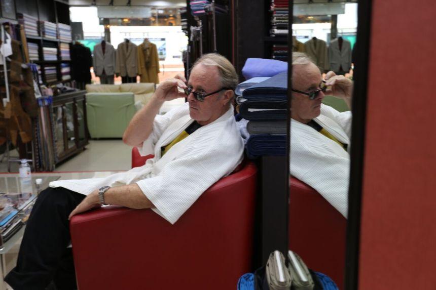 Kevin Cummings at his Bangkok Thailand tailor shop - Charlie's Fashion and Design located on Sukhumvit 26
